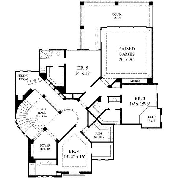 Mediterranean House Plan 61 395 From Houseplans Com Planos De Casas Planos Arquitectonico