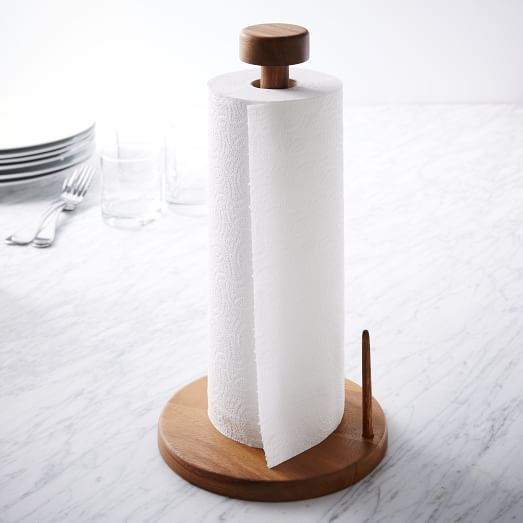 Marvelous Acacia Wood Paper Towel Holder