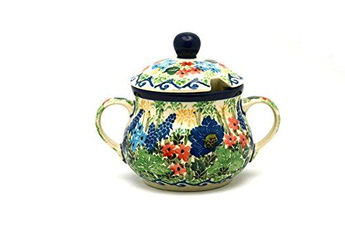 Polish Pottery Sugar Bowl  Unikat Signature U4695 *** This is an Amazon Affiliate link. You can find out more details at the link of the image.