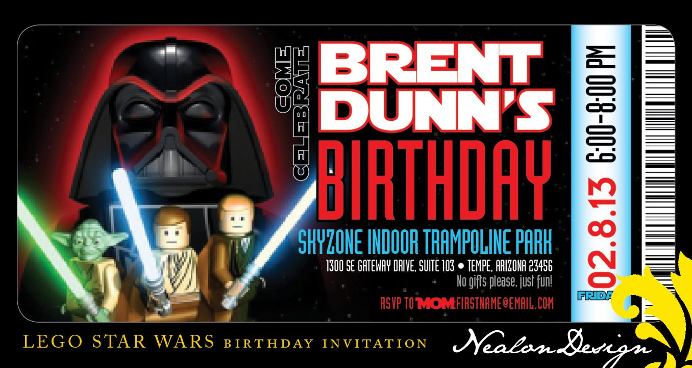 Awesome Star Wars Lego Party Invitations Motif - Resume Ideas ...