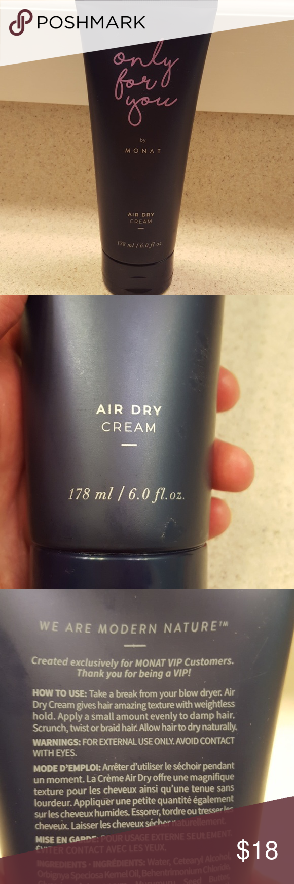 6.0 Fl. Oz. Monat Air Dry Cream NWT (With images) Air