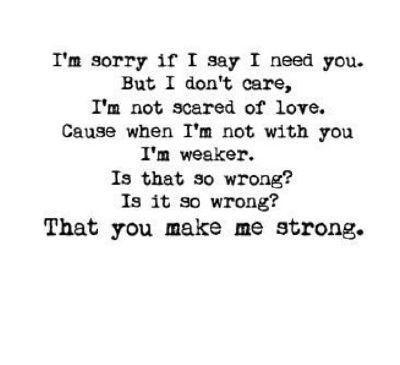 I Need You Strong For Me Lyrics