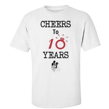 Cheers To 10 Years 50th Anniversary Tshirt 50th Anniversary Shirt 50th Anniversary Party