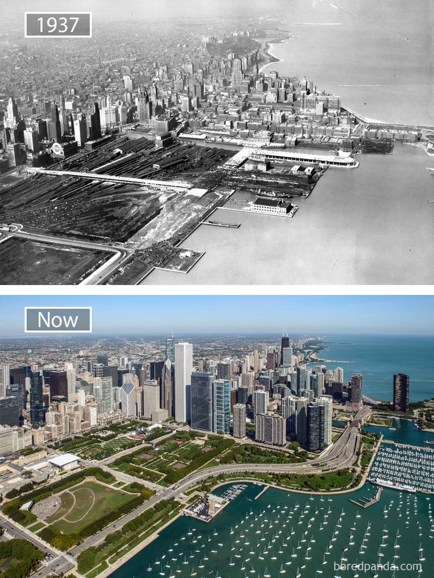 BeforeAndAfter Pics Showing How Famous Cities Changed Over - Before and after world