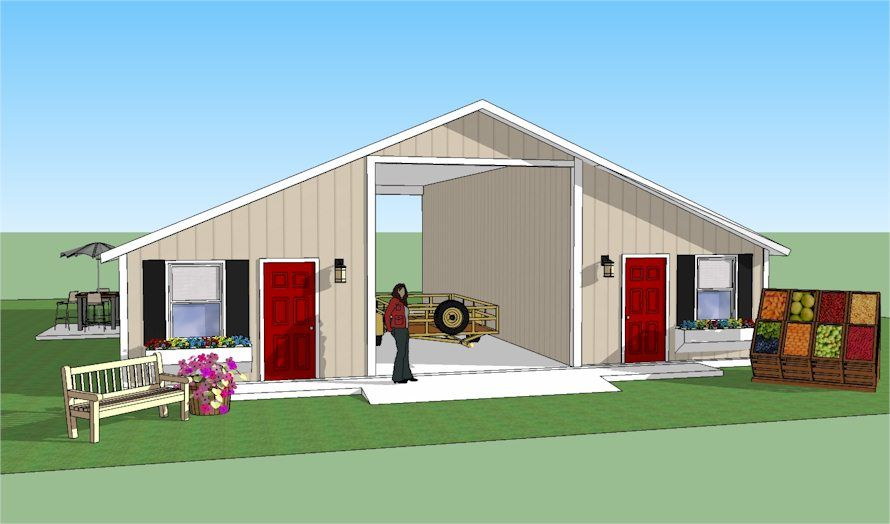 Rampart Basic Rv Shelter With Storage Barn With Living Quarters Rv Shelter Rv Homes