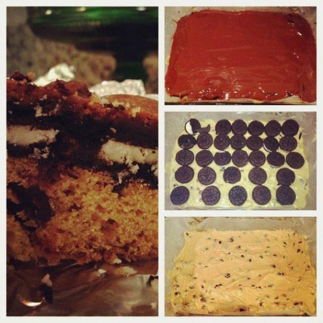Ultimate chocolate chip cookie n' Oreo brownie fudge bar