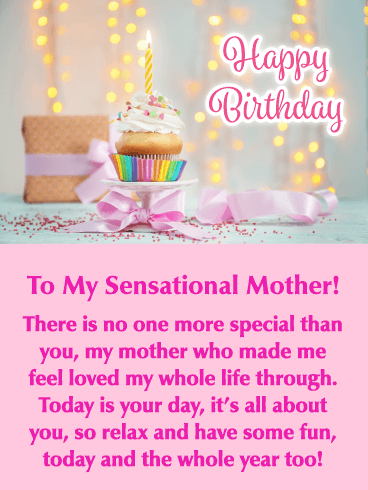 It S Your Day Happy Birthday Card For Mother Birthday Greeting Cards By Davia Happy Birthday Mom Cake Happy Birthday Mom Birthday Message For Mom