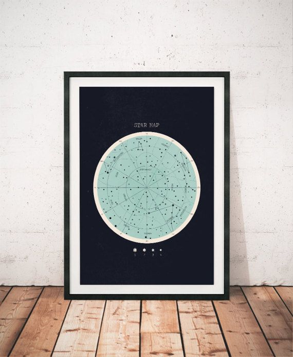 Constellation Print Star Chart Horoscope Print Constellation Decor Astronomy Wall Art Astrology Print Home Decor Space Art Print Periodo Geometrico Y Espacios Artisticos