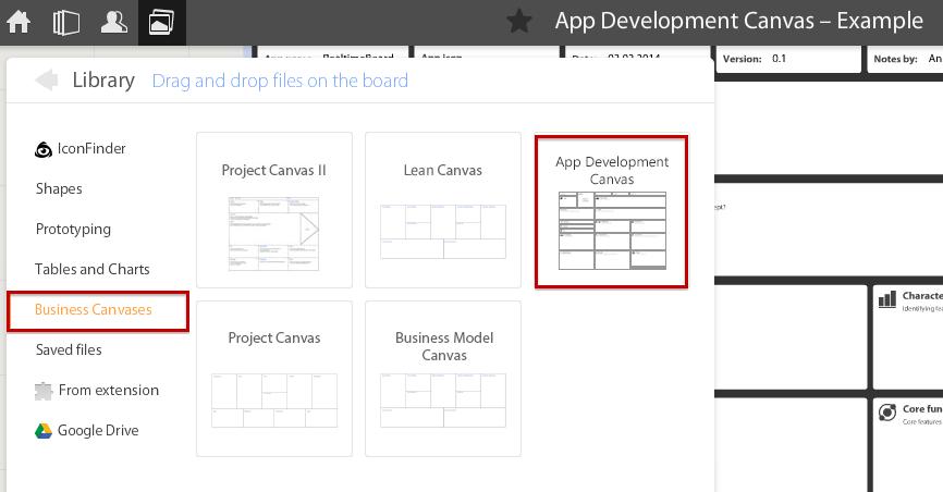 App Development Canvas Library App Development Business Model Canvas Development