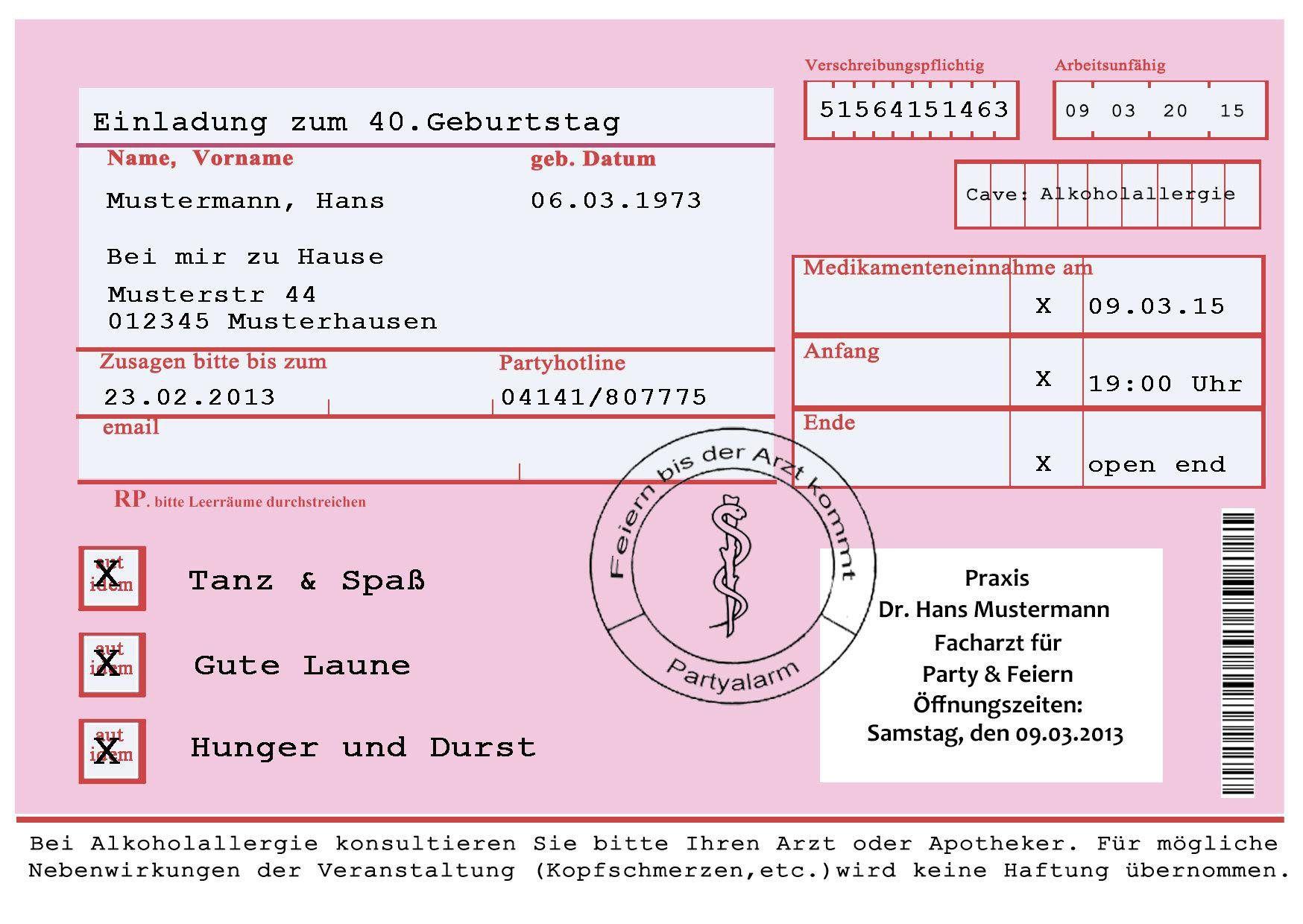 Einladung Geburtstag : Einladungen 40 Geburtstag   Geburstag  Einladungskarten   Geburstag Einladungskarten