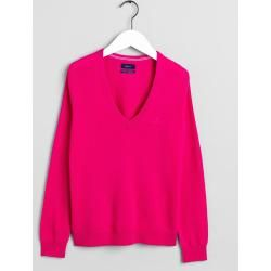 Photo of Gant Superfine Lambswool V-Neck Sweater (Pink) GantGant