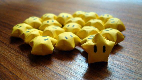 20 Mario Origami Stars Super Mario Bros Bday Pinterest
