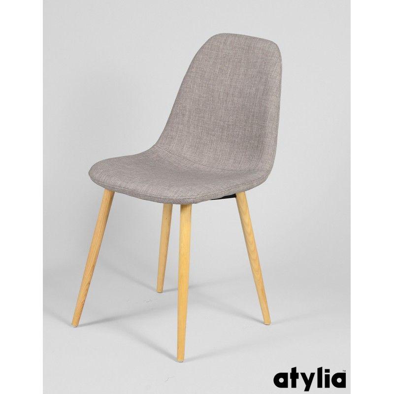 Chaises Design Plunge En Tissu Gris Clair Atylia X4 Chaise Scandinave Bleu Galette De Chaise Chaise