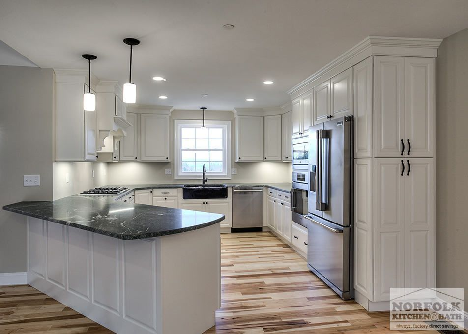 This Beautiful New Construction In Gilford Nh Was Designed By Mariah In Our Nashua Nh Showroom Cabinets New Kitchen Designs Kitchen Design Kitchen Remodel