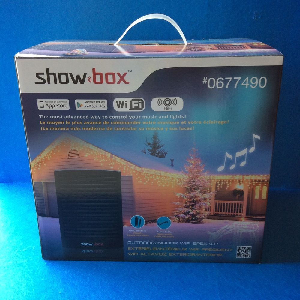 christmas light controller show box music wifi speaker indoor outdoor showbox showbox bbqpartypoolparty