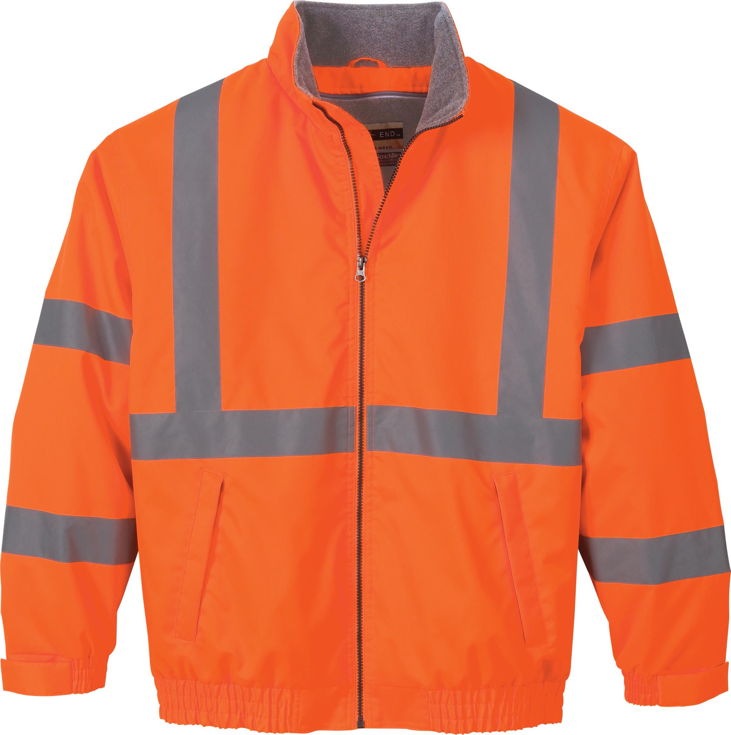88705 MEN'S VERTICAL STRIPE INSULATED SAFETY JACKETS