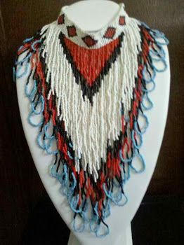Native American Beaded Necklaces | Vintage One of a Kind Native American Beaded Necklace