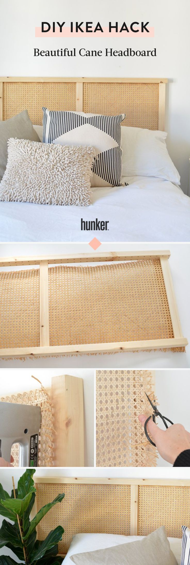 This Utilitarian IKEA Piece Gets Transformed Into a Beautiful Cane Headboard | Hunker