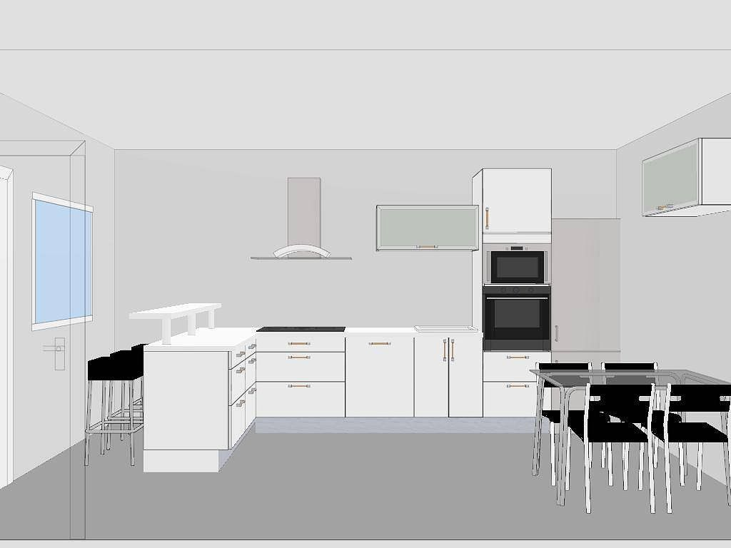 La mejor distribución para mi cocina rectangular de 15,40 m2 ...