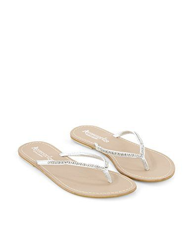 132715ede092 Accessorize Womens Sparkle Diamante Flip Flop Size US 6 Shoe Silver -- Read  more reviews of the product by visiting the link on the image.