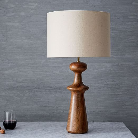 Turned Wood Table Lamp Tall Acorn By West Elm Table Lamp