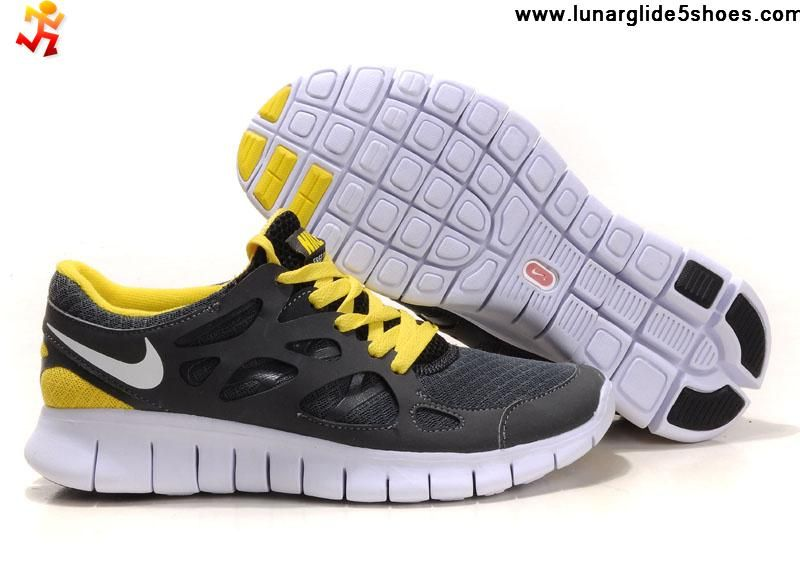 2013 Womens Nike Free Run 2 Gray Yellow Shoes Sports Shoes Shop