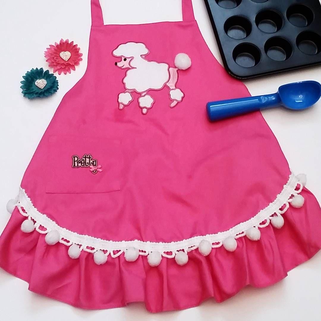 Pretty Pink Poodle Apron for your Princess! $16.99 use coupon: THANKYOU08 for 25%off  #puppylove #poodle #prettyandpink #littlemommy #littlehelper #littlebaker #littleartist #littlegardener #smock #apron #pinkapron #pinkpoodle #baking #gardening #cleankids #cutegift #littlegirls #dressup #etsy #etsyshop #etsyseller #etsystore #smallbusiness #girlythings #adorable #heartofhome #love #sweet #mommyandme #daddyandme
