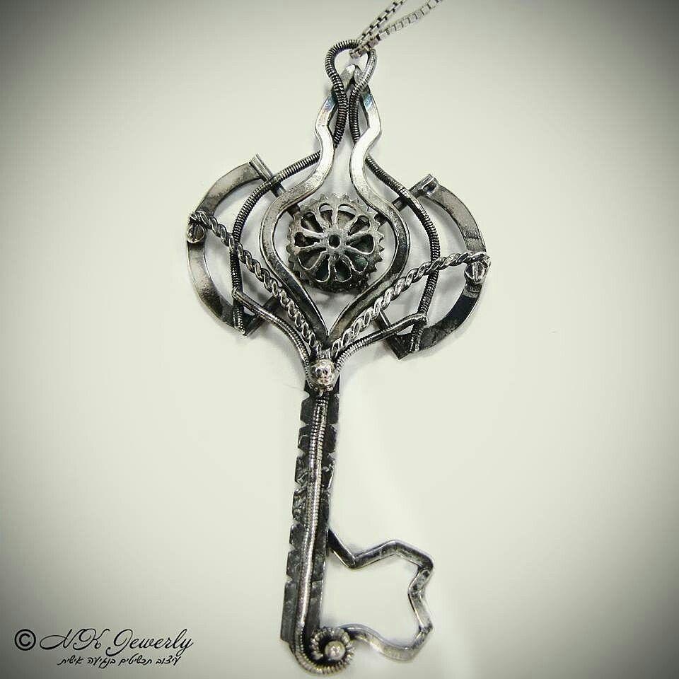 #NKjewelrydesign #pendant #sterling #Silver #jewelry #oxidizedsilver #order #welding #Silverkey