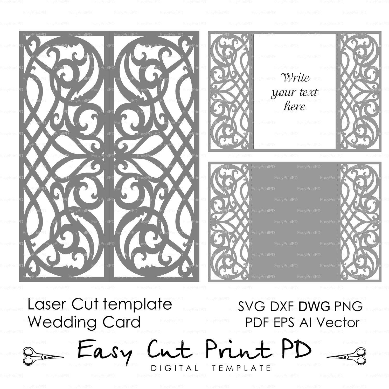Card template swirls stencil scroll door gate folds wedding card template swirls stencil scroll door gate folds wedding invitation 5x7 svg dxf ai stopboris Gallery