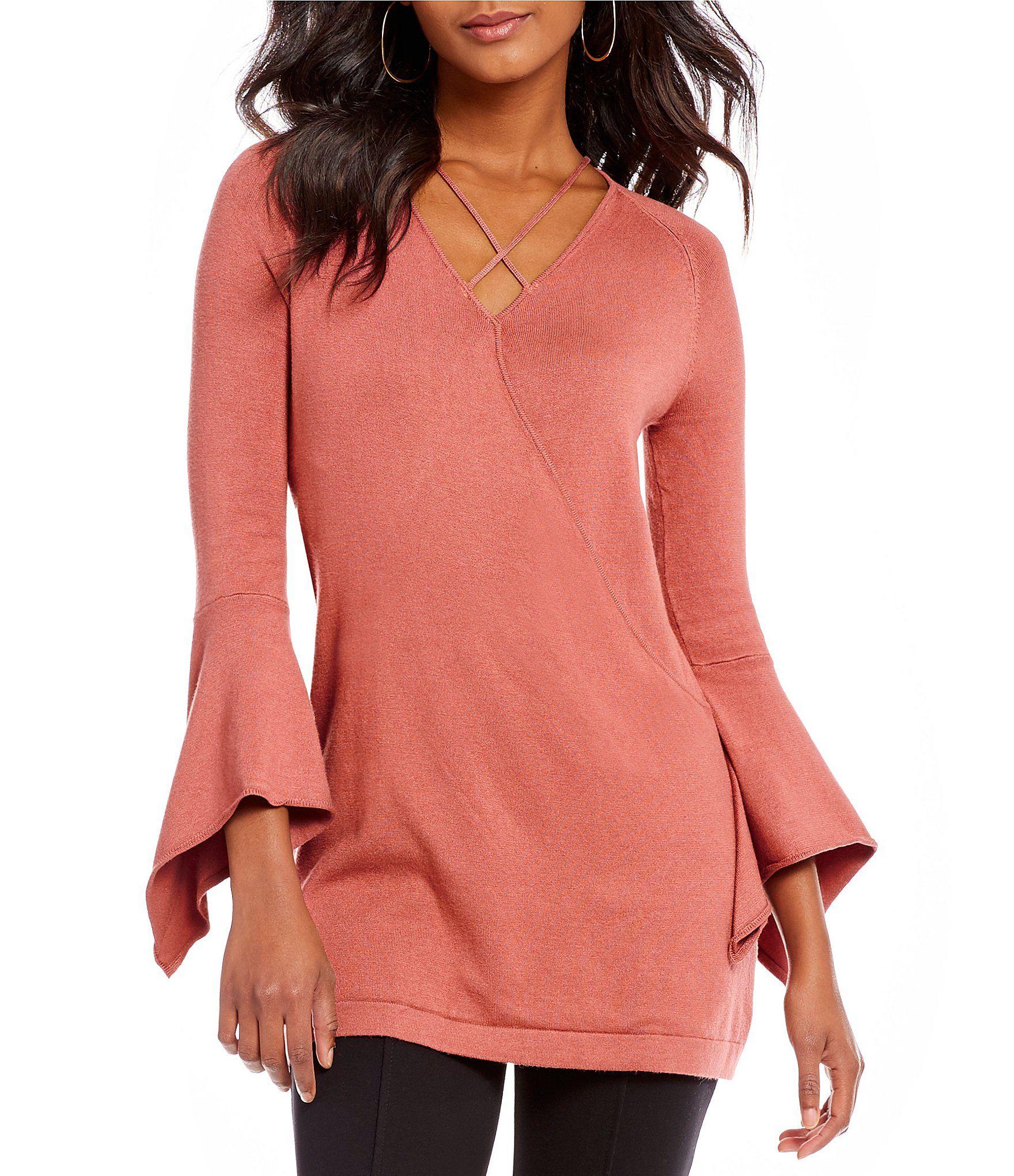 e0420d9e94 Gibson and Latimer Bell Sleeve Sweater  Dillards