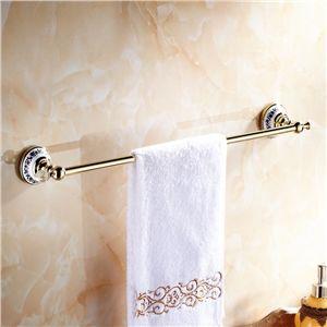 Moderne Accessoires salle de bain Ti PVD Porte serviettes en laiton