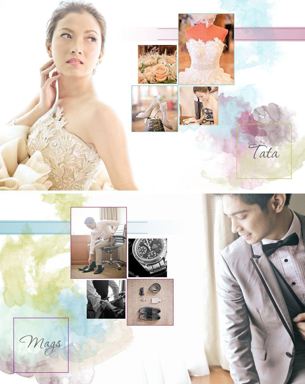 8x10 Wedding Album Layout #JustMarried #MagsAndTata