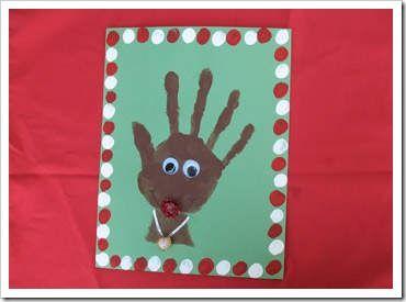 Manualidades navidad huella manos 14 cosas del colegio - Tarjeta de navidad para ninos manualidades ...