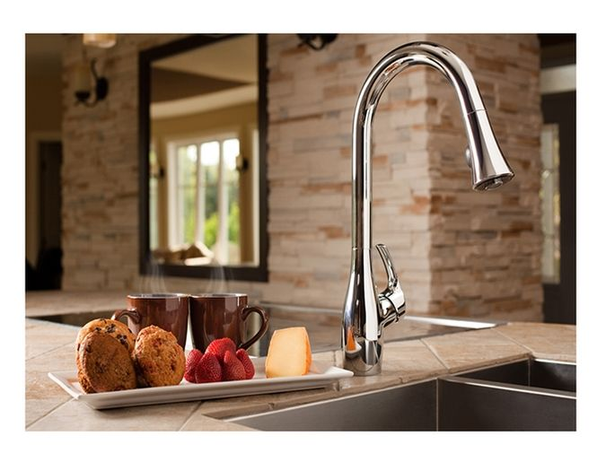 Robinet De Cuisine Monotrou Bistro Robinets De Cuisine Modernes Stainless Steel Faucets Kitchen Design Decor Stainless Steel Kitchen Sink