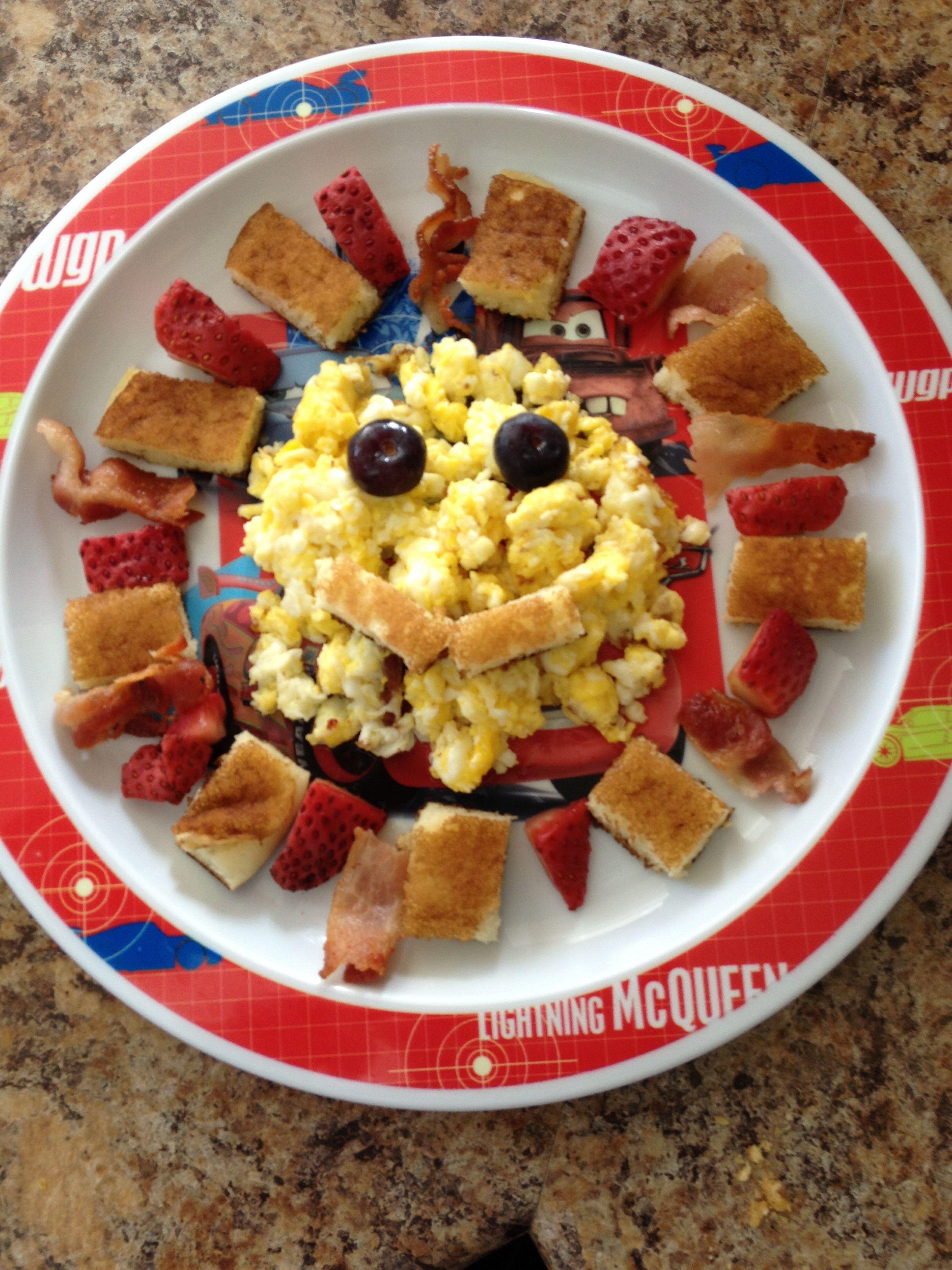 More Breakfast Fun Pancakes Strawberries Blueberries