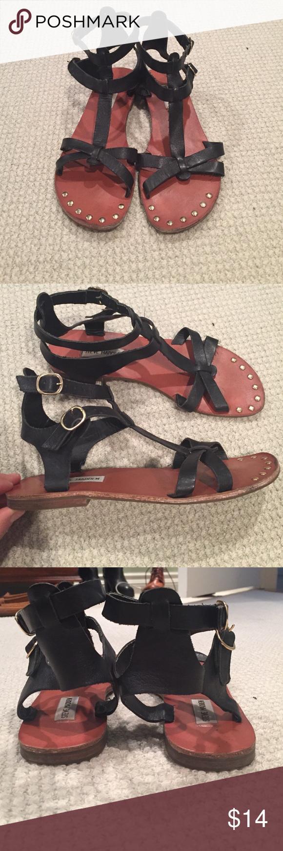 Steve Madden sandals Size 10 black gladiator Steve Madden sandals. Good used condition. Steve Madden Shoes Sandals