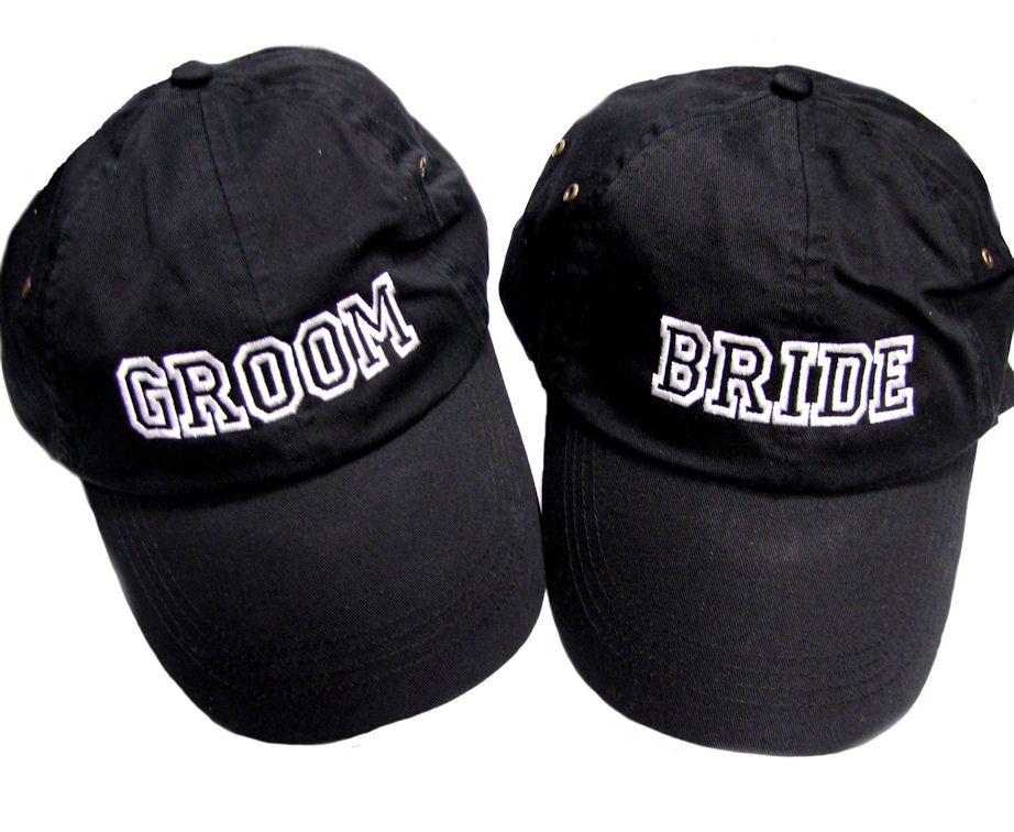 096a478ba52 Athletic Style Embroidered Custom Cap  22.95  advantage  bridal   advantagebridal  embroidery  bride  groom  hat  white  black  just   married  honeymoon   ...