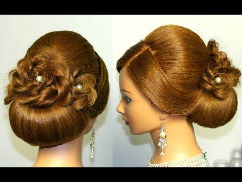 Youtube Long Hair Updo Braided Hairstyles For Wedding Hair Updos Tutorials