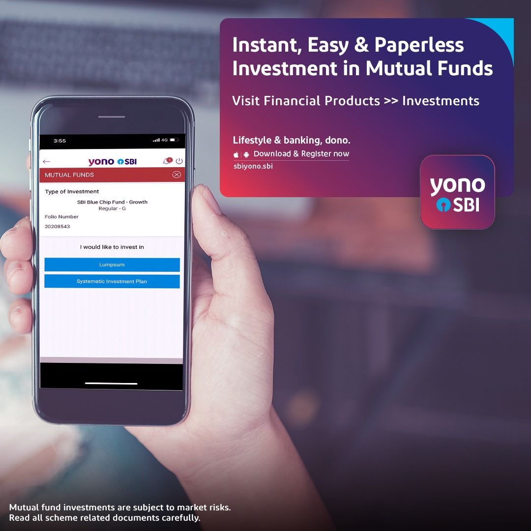 Invest In More Than 30 Mutual Fund Schemes Instant Easy Paperless Investments On Yono Sbi Market Risk Mutuals Funds Investing