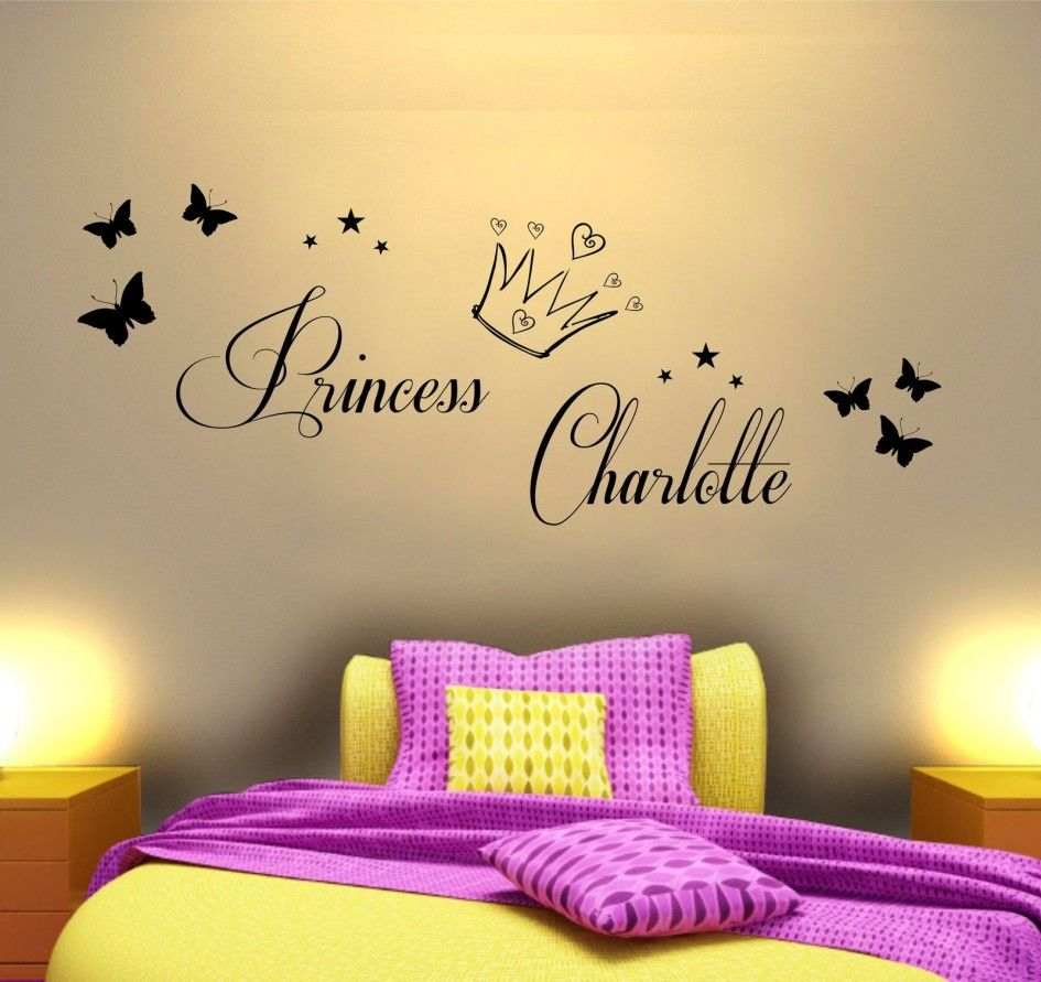 Bedroom, Lovable Princess Charlotte Sticker Wall Decal With ...