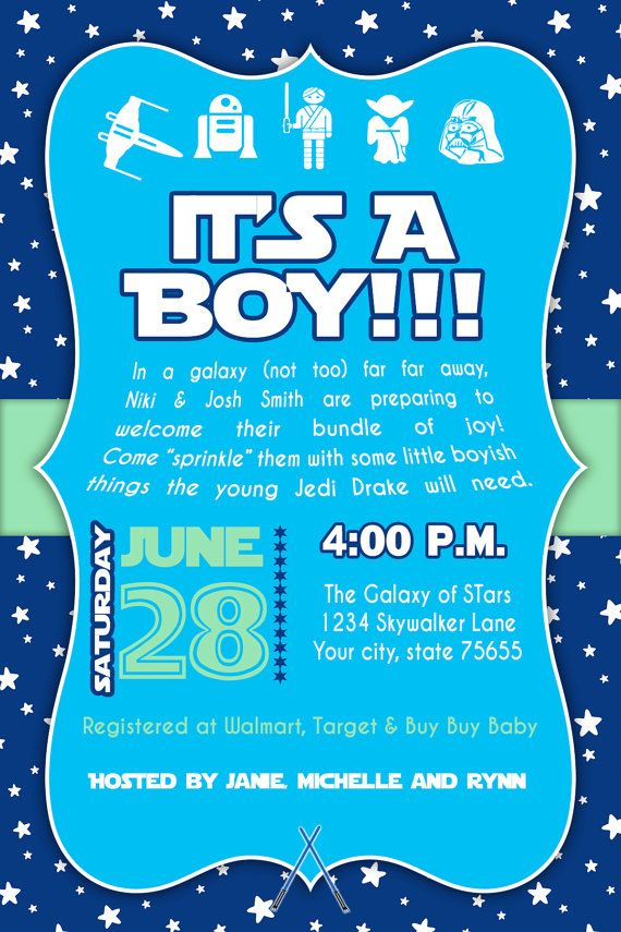 If the Baxters have a baby Star Wars Baby Shower Invitation DI