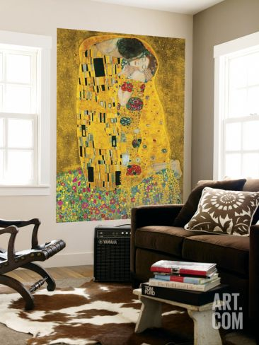 Gustav Klimt The Kiss Der Kuss Mural | Wallpaper murals, Klimt and Kiss