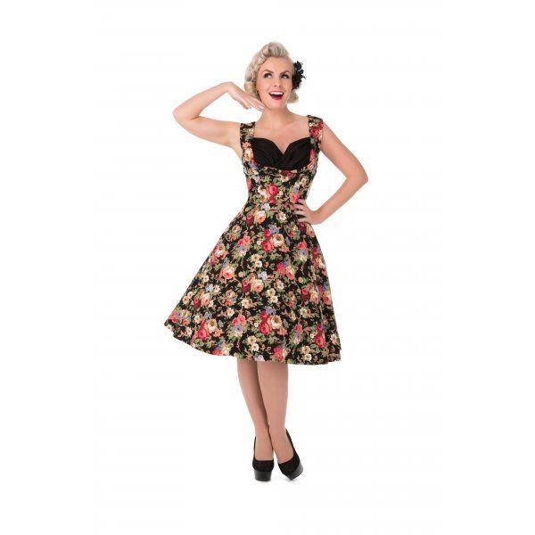Womens Ophelia Black Floral Dress Lindy Bop nKZCr59oMd