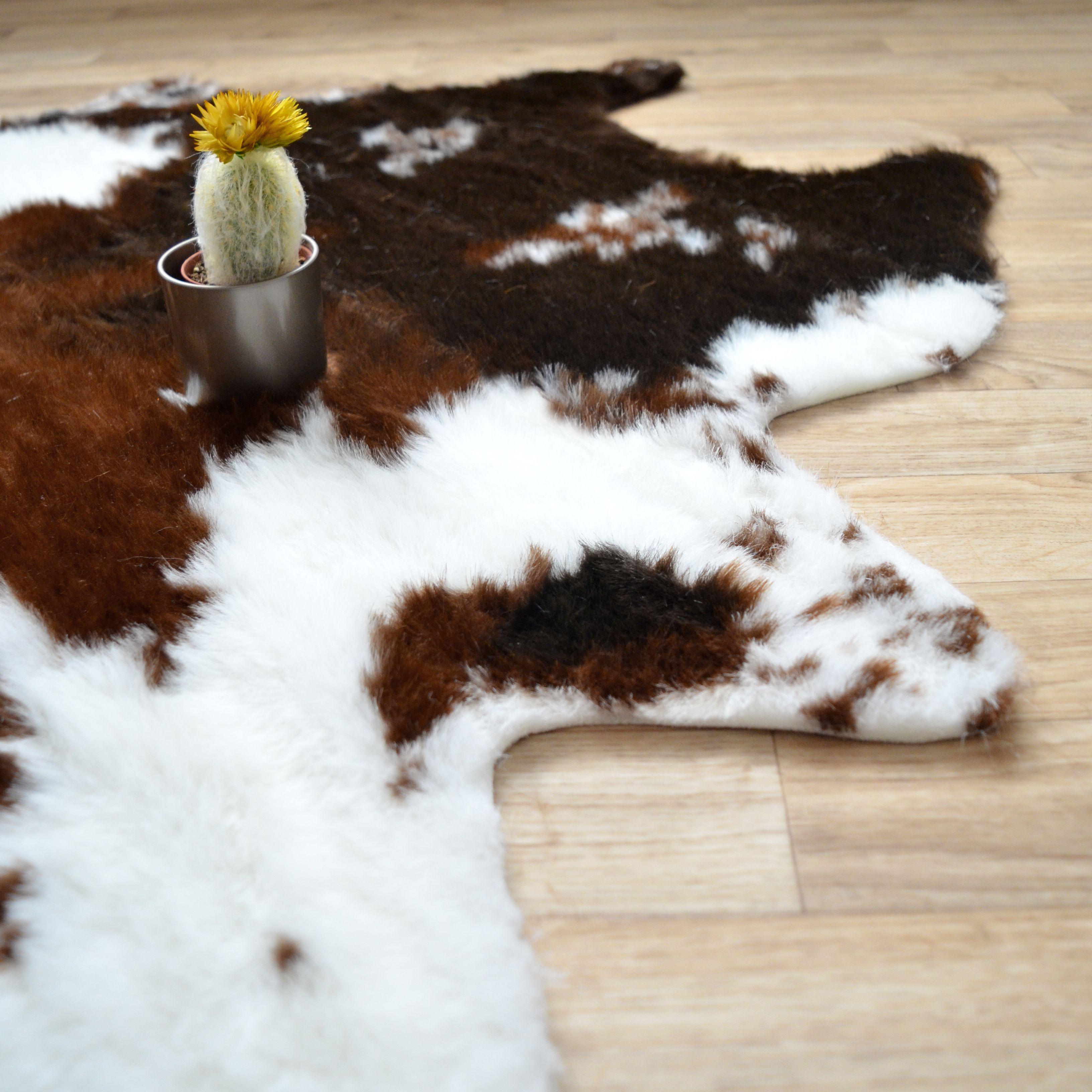 tapis imitation peau de vache tapis peau