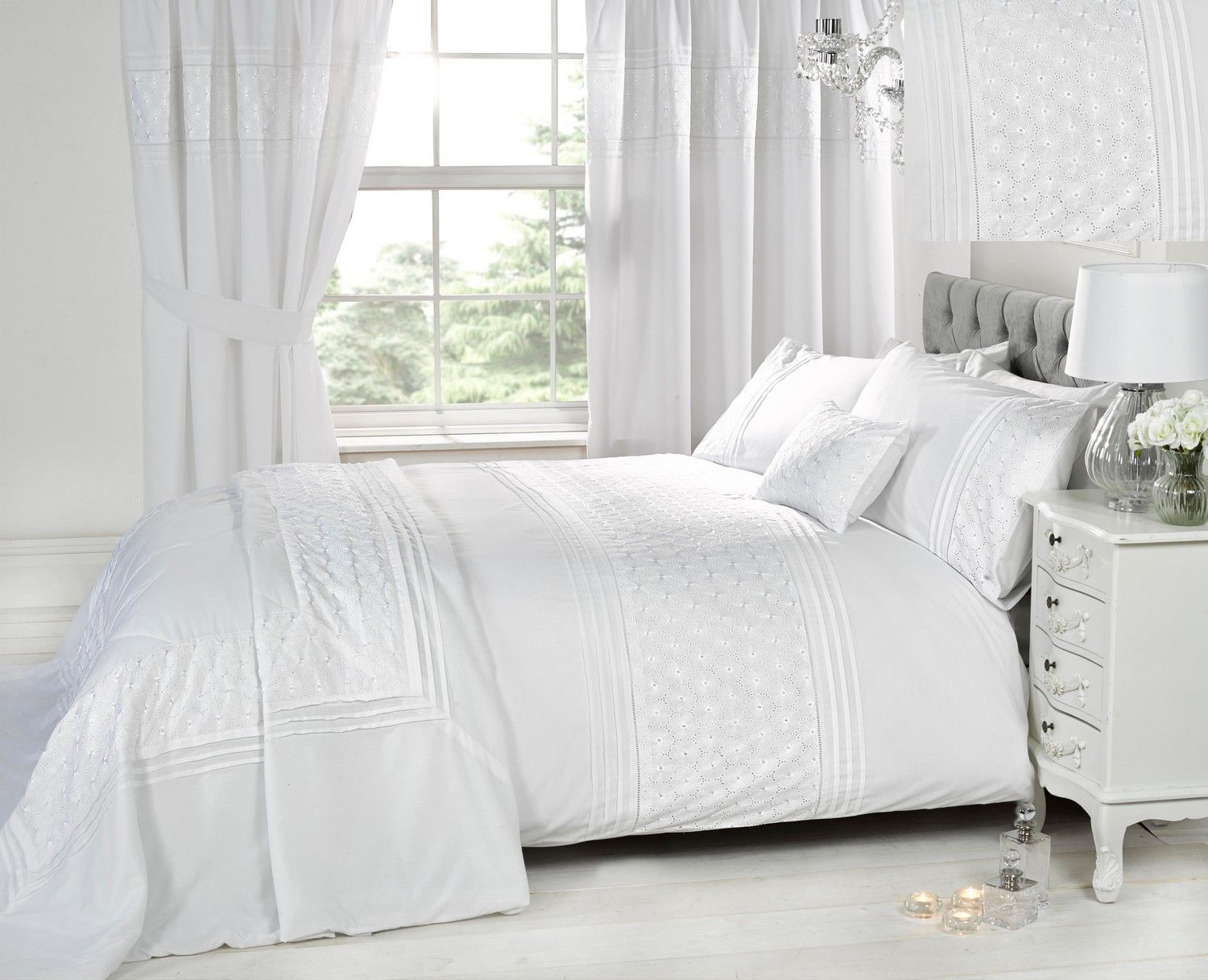 Love the clean look of all white in the bedroom | Home Design Ideas ...