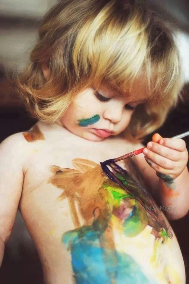 Artiste en herbe!