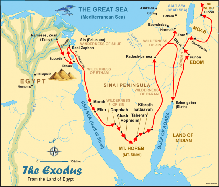 The Exodus From Egypt Bible Maps Bible Mapping Bible