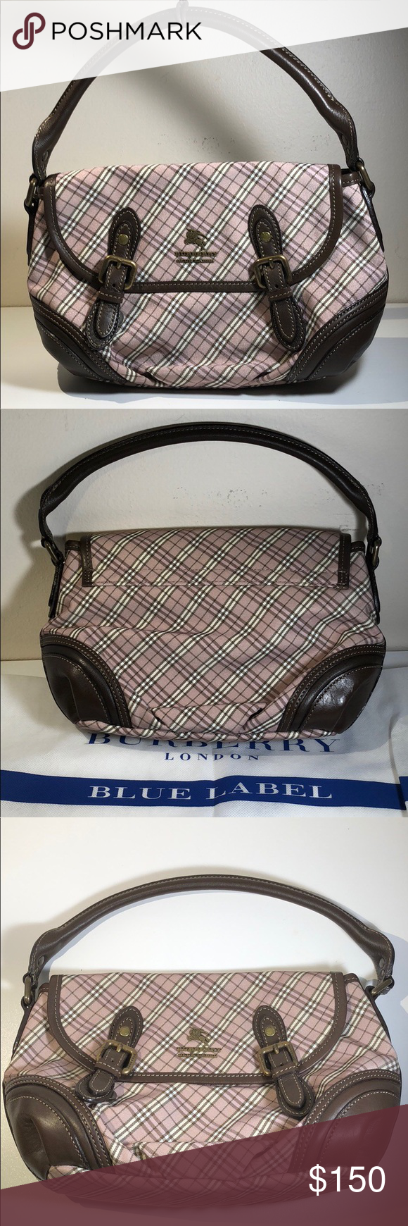 ec8fee6e03bc Authentic Burberry Blue Label Canvas Satchel The bag good condition. The bag  was made in