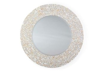 """Franny 22"""" Mirror, Pearl in {productContextTitle} from {brandTitle} on shop.CatalogSpree.com, your personal digital mall."""
