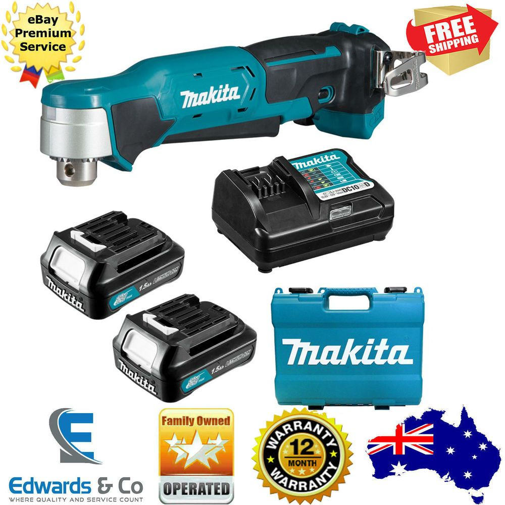 Angle Drill Cordless Makita Battery Charger Power Tool 12v